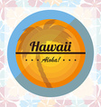 welcome to hawai vector image