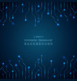 abstract of blue futuristic technology line vector image vector image