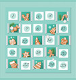 advent calendar decorated wirh gingerbread vector image vector image
