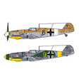 aircraft color scheme vector image vector image