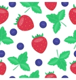 berries strawberry seamless patterns vector image vector image