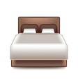 big bed isolated on white vector image vector image