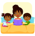 black family reading story vector image vector image