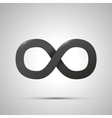 Black simple Infinity sign with shadow on white vector image