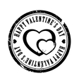 Black Valentine stamp vector image