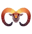 Bright Ram zodiac Aries sign vector image vector image