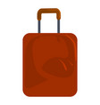 brown travel bag icon cartoon style vector image
