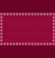 burgundy festive knitted background framed with vector image vector image