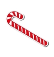 candy cane icon vector image