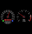 car dashboard speedometer and tachometer vector image vector image