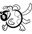 cartoon dog or puppy for coloring vector image vector image