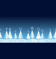 christmas seamless forest background vector image vector image