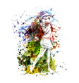 color a woman playing golf vector image