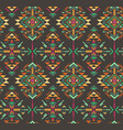 colorful ethnic seamless pattern with geometric vector image