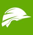 construction helmet icon green vector image vector image