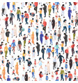 crowd isometric various nationalities and ages vector image vector image