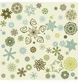 Decorative snowflake background vector image vector image