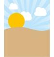 desert landscape beautiful icon vector image vector image