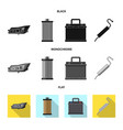 design of auto and part symbol set of auto vector image vector image