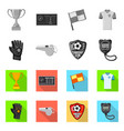design of soccer and gear sign set of vector image vector image