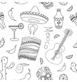 Doodle pattern mexico vector image vector image