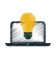 drawing idea laptop technology vector image vector image