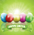 easter eggs 2302 vector image vector image