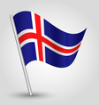 flag iceland vector image vector image