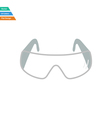 Flat design icon of chemistry protective eyewear vector image