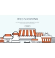 Flat header Shopping Web vector image