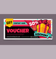 gift voucher promotion birthday certificate vector image