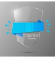 Glass banner template vector image vector image