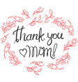 greeting card mother day collection vector image vector image