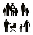 group of family members avatars silhouettes vector image vector image