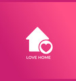 home with heart icon vector image