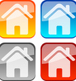 House buttons vector image vector image