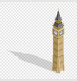 isometric highly detailed big ben tower on vector image vector image