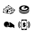money simple related icons vector image vector image