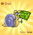 mr snail with buy me vector image vector image
