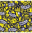Music party - seamless background vector image vector image
