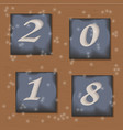new year s icons with numbers vector image vector image