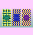 optical illusion packaging design set colorful vector image vector image