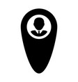pin icon male user person profile avatar with vector image vector image