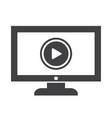 play button tv icon design vector image vector image