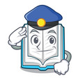 police opened book on the cartoon table vector image vector image