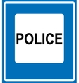 Police Road Sign Icon vector image