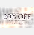 premium jewelry style sale banner template vector image vector image
