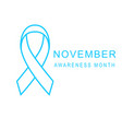 prostate cancer november awareness month poster vector image vector image