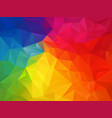 rainbow spectrum polygon background vector image vector image