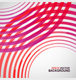 red circle made lines white background vector image vector image